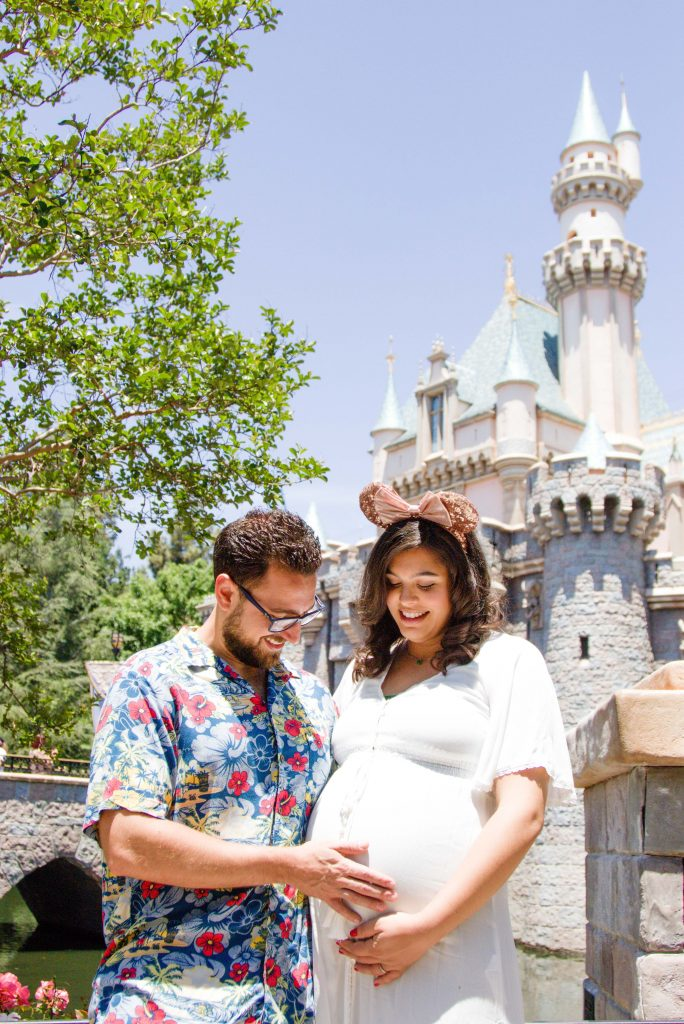 Disneyland Maternity Session, Disneyland Photo Session, Disneyland Baby