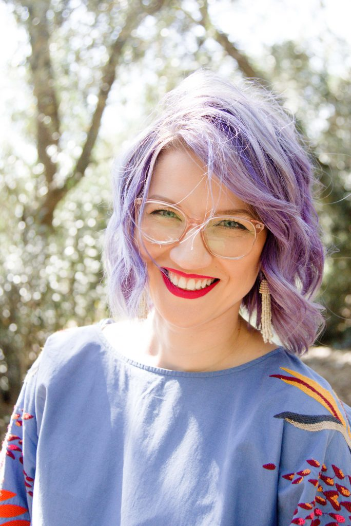 Purple Haired Woman in Glasses, Purple Hair Don't Care, Los Angeles Portrait Photographer