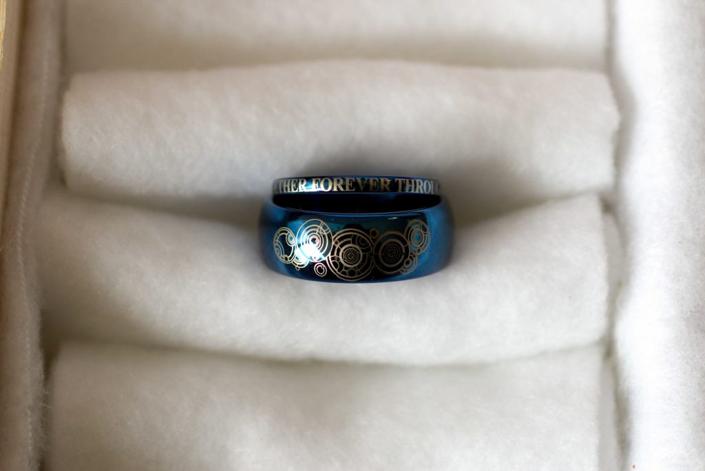 nerdy wedding rings, dr. who wedding rings