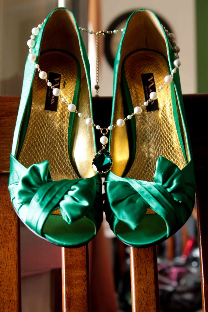 Green Bridal Shoes, Green Wedding Inspiration, Bridal Heels