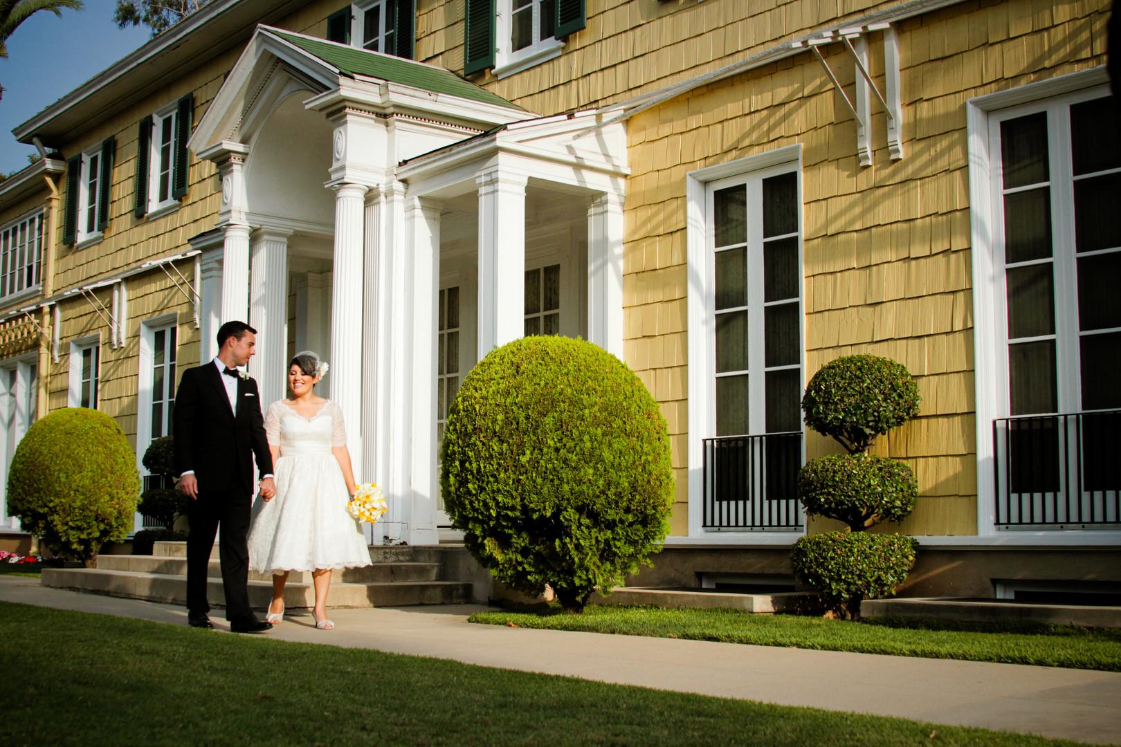 Lindley Scott House Wedding, Azusa Wedding Photographer, Vintage Wedding, Los Angeles Wedding Venue, Bride and Groom