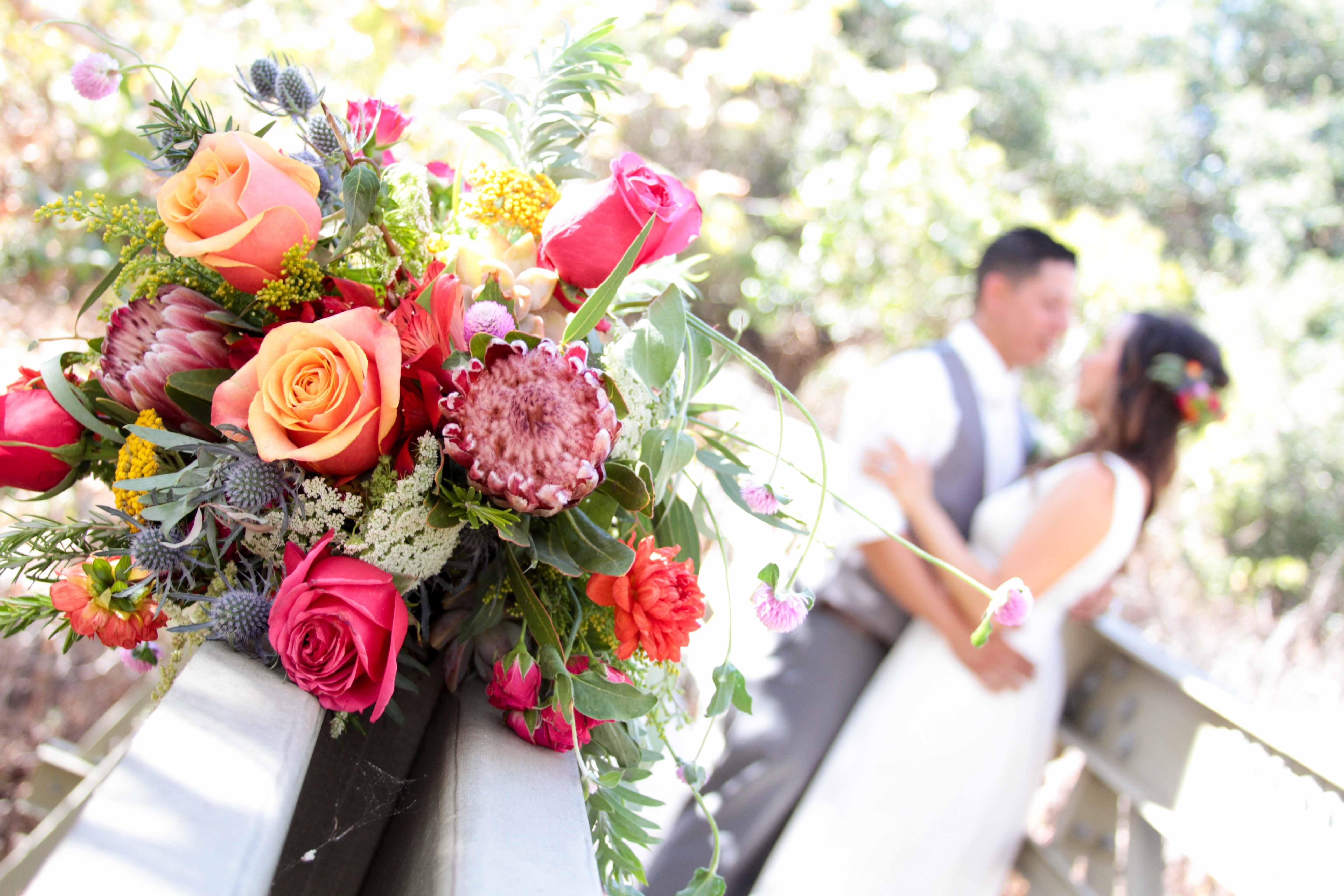 El Capitan Beach Wedding, Bohemian Bridal Bouquet