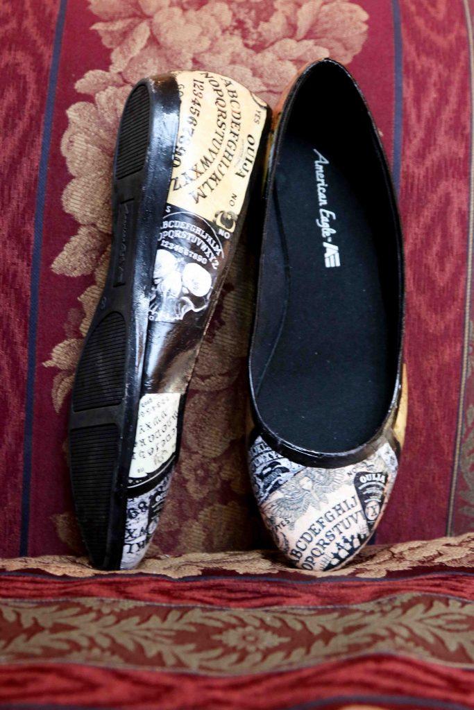 ouija board bridal shoes, Halloween Wedding