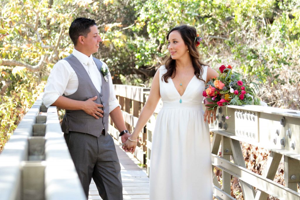 Boho Wedding, Boho Bride and Groom, Santa Barbara Wedding Photography