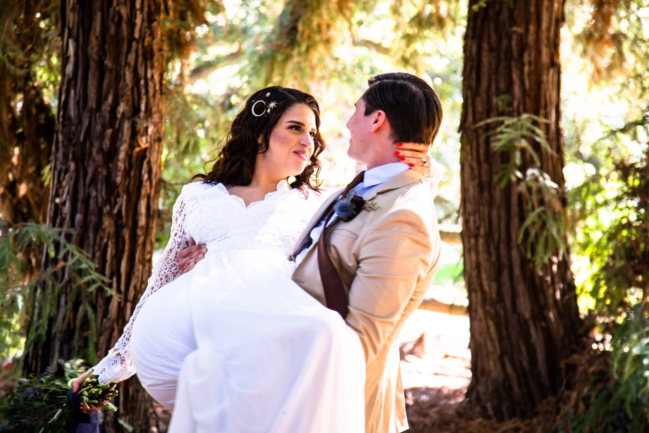 los angeles elopement, offbeat bride, micro wedding los angeles, california botanic garden elopement